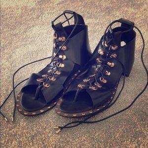 IVY KIRZHNER black stud sandal